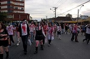 Zombie Walk, Halloween, Pelotas, Brazil.