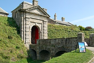 Pendennis Castle - The classically styled gatehouse, built in 1700