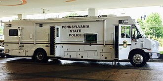 Pennsylvania State Police - Image: Pennsylvania State Police Mobile Command Center