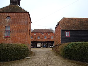 Peper Harow - Dovecote, Granary and Barn in the village of Peper Harrow
