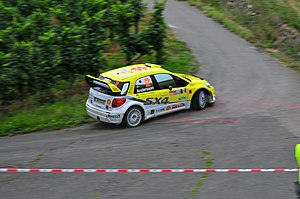 Per-Gunnar Andersson (rally driver) - Andersson with Suzuki SX4 WRC at 2008 Rally Deutschland