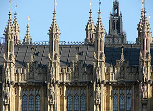 Perpendicular Gothic architecture, Palace of Westminster.