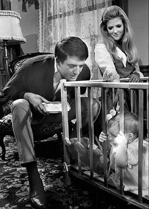 Mike Minor (actor) - Mike Minor and Meredith MacRae on TV's Petticoat Junction (1969)