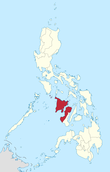 Map of the Philippines highlighting Western Visayas