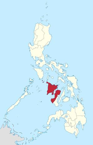 Lage des Bezirkes Western Visayas innerhalb der Philippinen