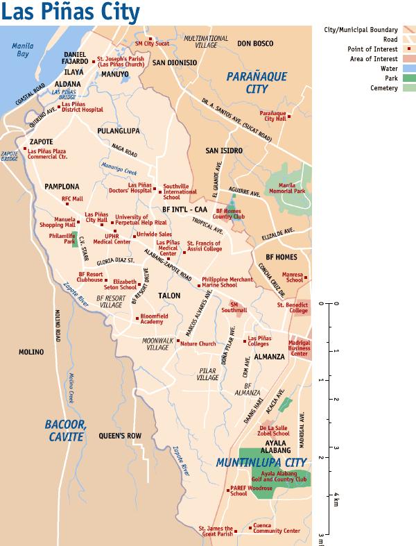 Ph map laspinas