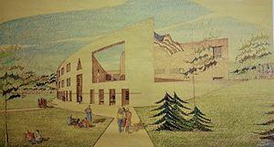 Charles E. Dagit Jr. - Drawing of Shippensburg University Cumberland Union building by Charles E. Dagit Jr.