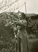 "Photograph of Ina Higgins in garden at ""Killenna"" 1919.jpg"