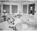 Photograph taken during the vacation cruise of President Harry S. Truman to Bermuda. L to R in one of the ward rooms... - NARA - 198639.tif