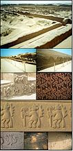 Photomontage of Chan Chan, capital of Kingdom Chimu or Chimor