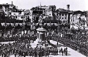 L'inaugurazione del Monumento a Vittorio Emanuele II,piazza Vittorio Emanuele II, 20 settembre 1890