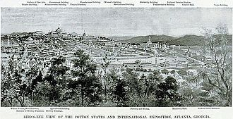 Piedmont Park - Lithograph of Piedmont Park plans for the 1895 Cotton States Exposition in Atlanta, GA c.1894