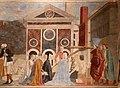 Piero della francesca, cappella bacci, 1452-69 circa, ritrovamento e verifgica della croce 04.jpg