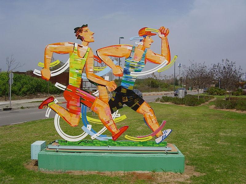 פסל של דוד גרשטיין בנתניה
