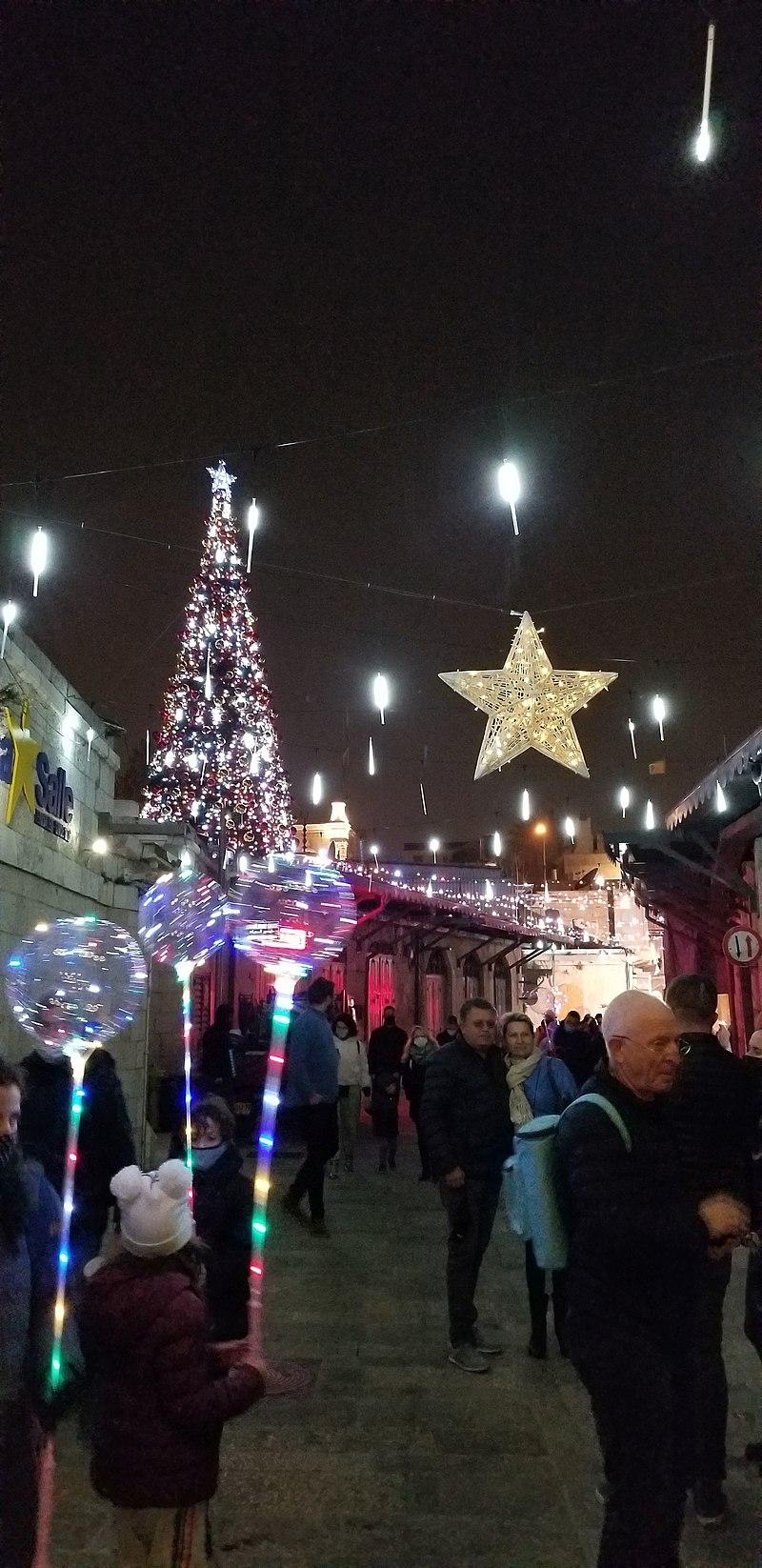חג המולד בירושלים 2020