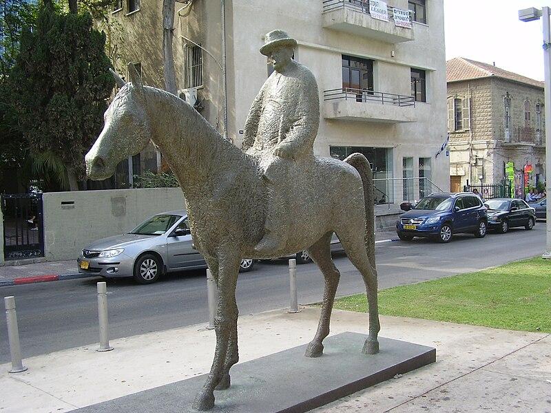 מאיר דיזנגוף על סוסתו