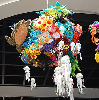 Piñata - A coral reef piñata which won the 2013 contest of the Museo de Arte Popular in Mexico City