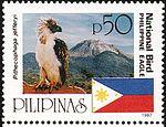 Pithecophaga jefferyi 1998 stamp of the Philippines.jpg