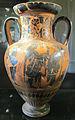 Pittore di antimenes, anforetta con eracle e il leone neemeo, 520 ac. ca.JPG