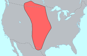 Range of Plains Indians at the time of first E...