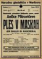 Plakat za predstavo Ples v maskah v Narodnem gledališču v Maribor 17. marca 1928.jpg