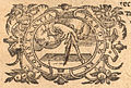 Plantin emblema from title page of Lucanus, De bello civili ed. Pulmann (1592).jpg