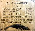 Plaque Eugène Clément - Cours Lafayette.JPG