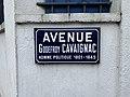 Plaque avenue Godefroy Cavaignac St Maur Fossés 3.jpg