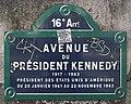 Plaque avenue Président Kennedy Paris 1.jpg