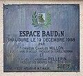 Plaque de l'inauguration de l'Espace Baudin (Belley).jpg