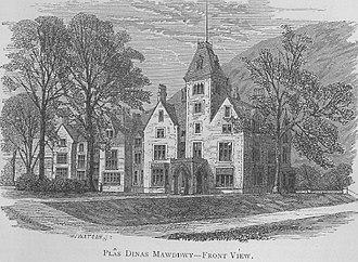 Dinas Mawddwy - Plas-yn-Dinas, built by Sir Edmund Buckley to replace Y Plas in 1868