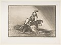Plate 10 from 'La Tauromaquia'- Charles V spearing a bull in the ring at Valladolid MET DP817512.jpg