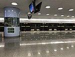 Platform of Hongqiao Airport Terminal 2 Station from train of Shanghai Metro Line 10.jpg