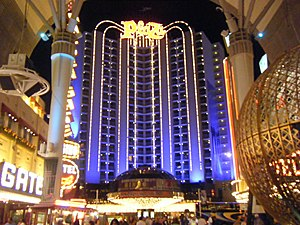 Plaza Hotel & Casino - The Plaza at night