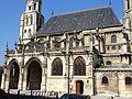 Poissy (78), collégiale Notre-Dame, nef et double bas-côté sud, vue depuis le sud-est.jpg