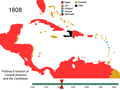 Political Evolution of Central America and the Caribbean 1808.png