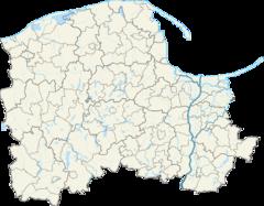 Mapa lokalizacyjna województwa pomorskiego