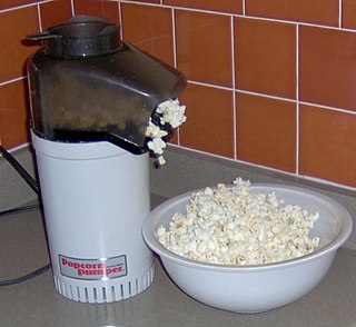 Popcorn maker Type of food preparation device