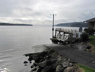 Port Waikato - Wharf overlooking the Waikato River