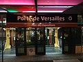 Porte de Versailles Tramway T2 Plaque signalétique by night 2018.jpg