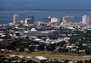 Centro e porto de Kingston