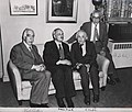 Portrait of Albert Einstein, Niels Bohr, James Franck and Rabi.jpg