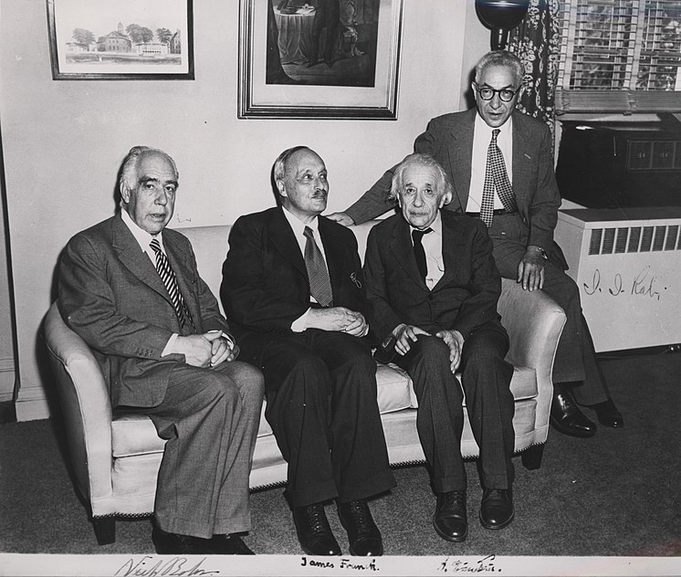 File:Portrait of Albert Einstein, Niels Bohr, James Franck and Rabi.jpg