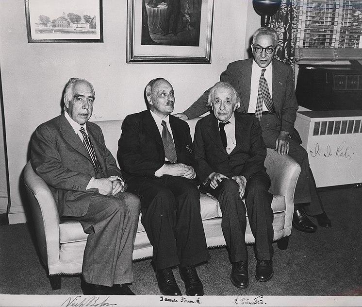 File:Portrait of Albert Einstein, Niels Bohr, James Franck and Rabi.jpg