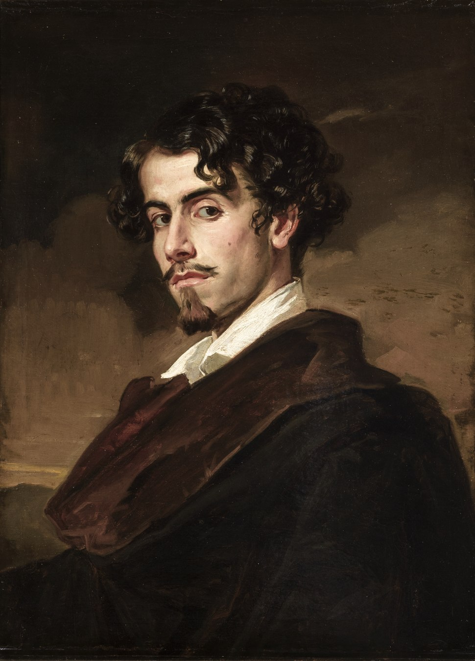 Portrait of Gustavo Adolfo Bécquer, by his brother Valeriano (1862)