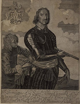 Oliver Cromwell - Portrait of Cromwell from the Welsh Portrait Collection at the National Library of Wales, c. 1650