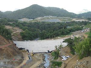 Portugués Dam - Portugues Dam cofferdam construction