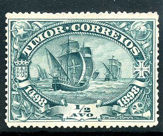 Omnibus issue - Postage stamp of Portuguese Timor, 1898. 400th anniversary of Vasco da Gama's discovery of the route to India.