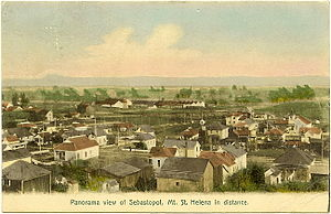 Sebastopol, California - View of Sebastopol in about 1909, Mt. St. Helena on the horizon