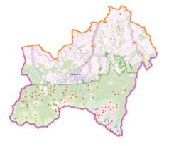 Mapa lokalizacyjna powiatu tatrzańskiego